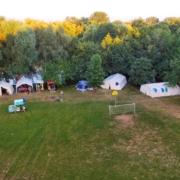 Unser Zeltplatz 2018 von oben