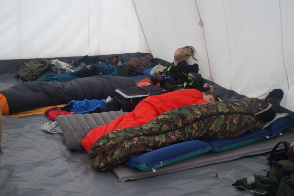Die Jungs schlafen noch