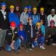 Gruppenfoto auf der Plattform des Drehortes