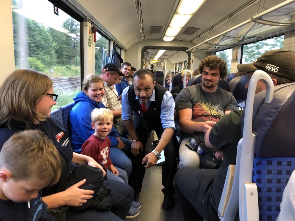 Comedy im Zug