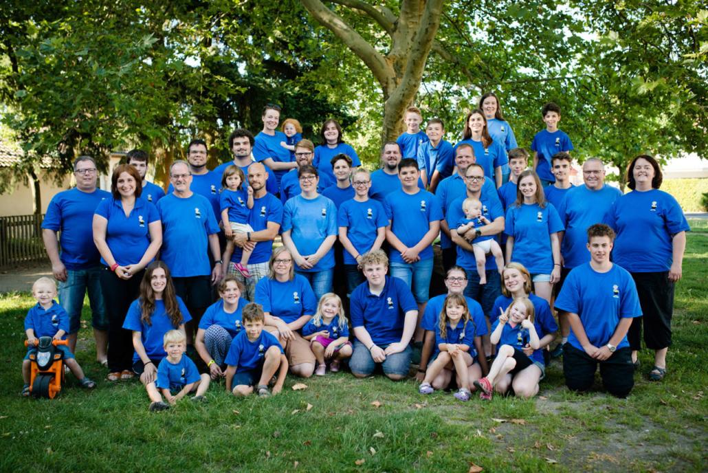 Alle Teilnehmer auf einem Bild