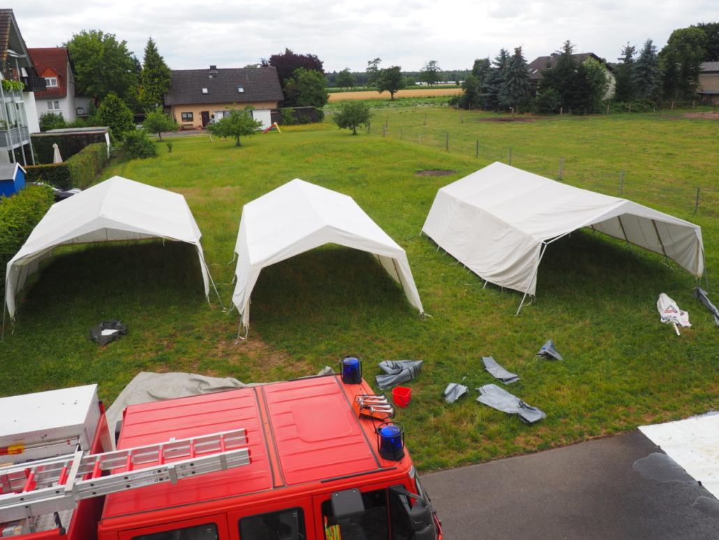 Unsere Zelte von oben betrachtet